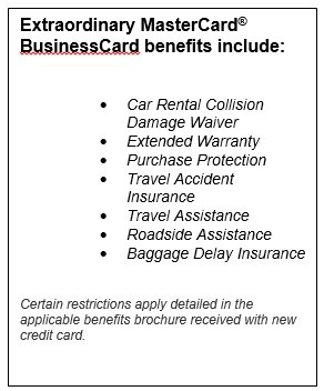 Business credit card supporting documents for your card application extaordinary mastercard reheart Choice Image
